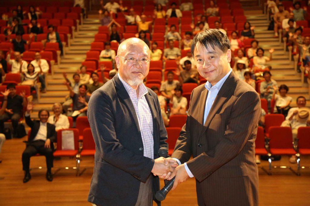 8月26日 ヒューマンドキュメンタリー映画祭《阿倍野》にてプロデューサーの榛葉さんと